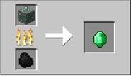 Fundicion mineral de esmeralda