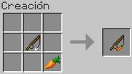 Elaboracion de la caña con zanahoria