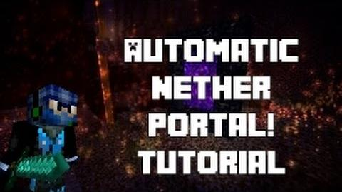 Automatic Nether Portal Tutorial CyberNinjaMC