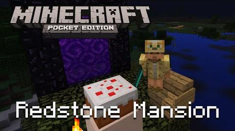 MCPE Redstone Mansion play through