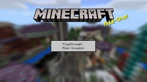 Minecraft Add-Ons Playthrough Alien Invasion