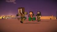Male Jesse, Ivor and Harper running