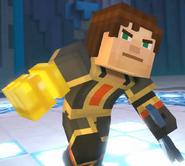 Male Jesse wearing Adamantine Impervium with Golden Gauntlet3