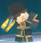 Male Jesse wearing Adamantine Impervium with Golden Gauntlet2