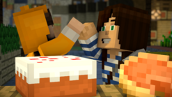 Stampy Cat high five with Stacy Plays