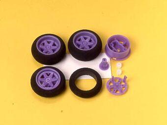 One-Way Wheel Set MINI RACER 4WD TAMIYA 15137 Large Dia