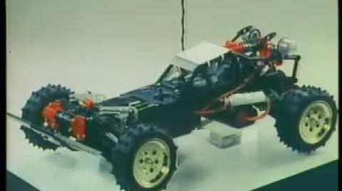 Tamiya Hotshot RC buggy (filmed in 1985)