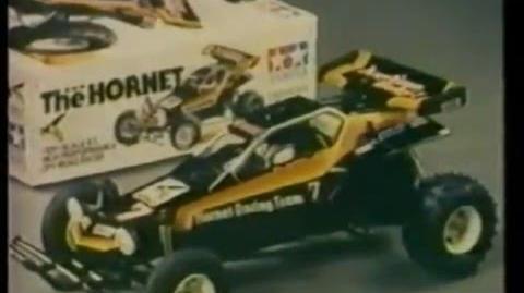 Tamiya The Hornet RC buggy (filmed in 1984)
