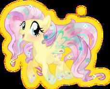 Rainbow power crystal fluttershy by theshadowstone-d818mfi