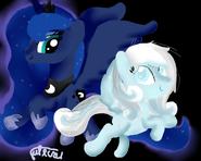 Snowdrop and luna