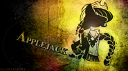 Applejack monochrome grunge wallpaper by dignifiedjustice-d4jv80i