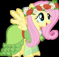 Fluttershy in haaaaaaaar dress by techrainbow-d5vb61x