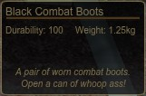 Black Combat Boots Tooltip