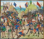 Schlacht bei Crécy 1346 by Jean Froissart, 1405