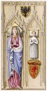 Gertrud von Hohenberg 1281, trachtenkunstwer02hefn Taf.135