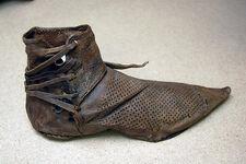 Schuh 15. Jh. in Dordrecht gefunden