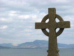 Celtic cross, Ballinskelligs Priory geograph.org.uk 1158331