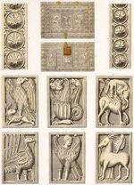 Reliquienkästchen, Würzburg 450-550, trachtenkunstwer01hefn, Taf.001