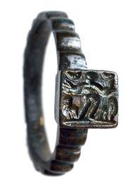 Fingerring mit Daniel in der Löwengrube, Rheinisches LM Trier, Inv.Nr. 6176