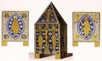 Reliquiarium Tüßling, 1140-1200, trachtenkunstwer02hefn Taf.080