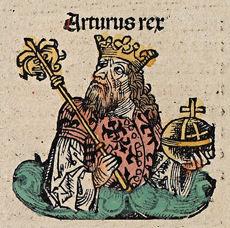 König Arthus (Schedel'sche Weltchronik 143v2)