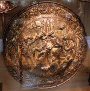 Bottega italiana, rotella 1550 ca