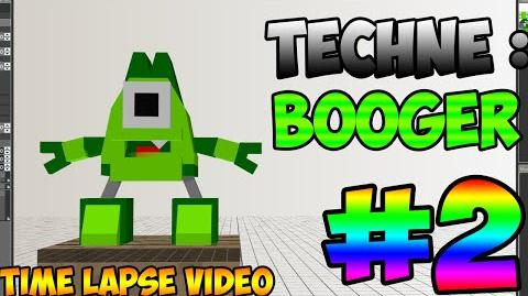 Mixel Modeling - Booger The Glorp Corp Student Mixel (Time Lapse Video)