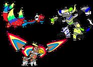 Rainbowfied Manda Taur and Vult