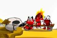 Flain and the Infernites watching Rockball