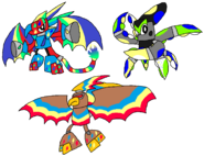 Rainbowfied Drazor Octorn and Soar