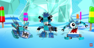 The Frosticons on trailer