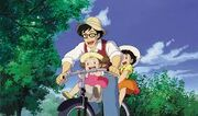 Tatsuo, Satsuki, and Mei Biking.jpeg
