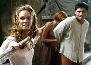 Jen Reyland with Taja & Great Kung Lao