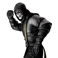 Mortal Kombat X IOS Black Scorpion Render