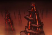 Netherrealm Cliffs concept art