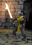 Cyrax with his Sabre of Light in MKG.