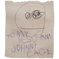 Johnnycage baby autograph