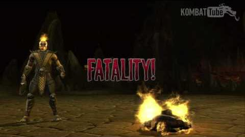 "MKvsDC Scorpion ""Flame"" Fatality"