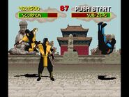 Mortal Kombat 1 SNES (EU Version) - Scorpion Playthrough