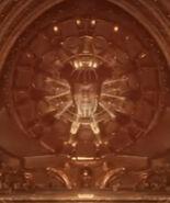 Shinnok head in the bone temple