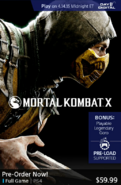 MKX pre order on PS4