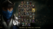 MK11 Ultimate KP2 select screen