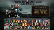 MK Unchained Character Select Screen