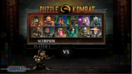MK Unchained Puzzle Kombat Select Screen