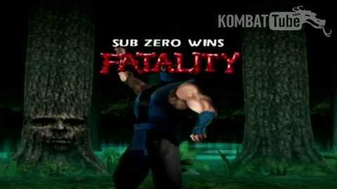"""MK4 Gold Sub-Zero """"Frozen Uppercut"""" Fatality"""