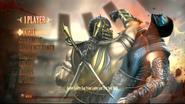 Mortal Kombat 9 main menu