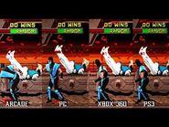 Mortal Kombat 2 (Arcade, PSN, Arcade Kollection) - Frame-Speed Comparison
