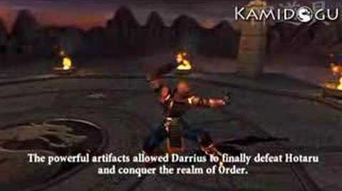 Mortal Kombat Armageddon Darrius' Ending