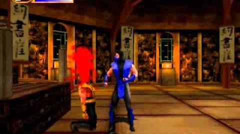 Mortal Kombat Mythologies Sub-Zero - Fatality on Scorpion