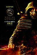 Mortal Kombat 2021 Scorpion character poster
